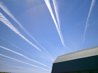 Visible effects of orgone on chemtrails